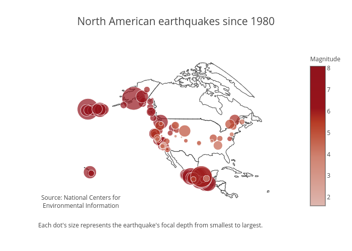 Tutorial: How to Map North American Earthquake Data Using Plotly |