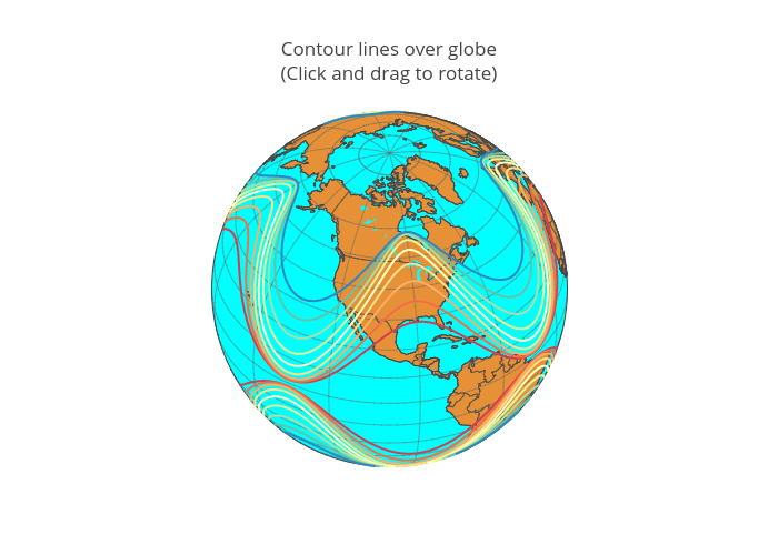 Contour lines over globe(Click and drag to rotate) | scattergeo made by Diksha_gabha | plotly
