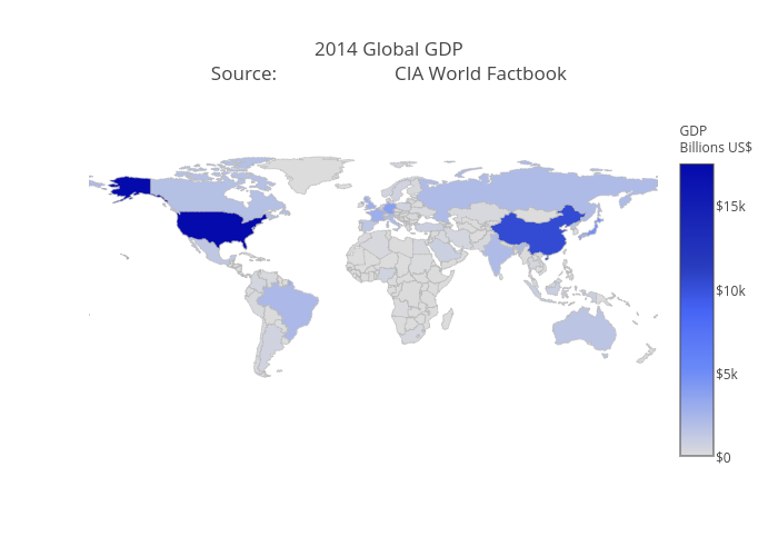 2014 Global GDPSource:                        CIA World Factbook | choropleth made by Pythonplotbot | plotly
