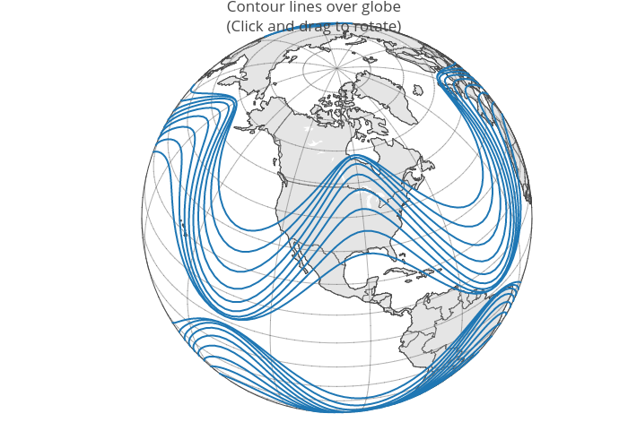 Contour lines over globe(Click and drag to rotate) | scattergeo made by Rplotbot | plotly