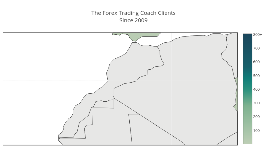 The Forex Trading Coach ClientsSince 2009 | choropleth made by Tftc | plotly