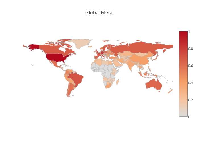 Global Metal | choropleth made by Aneeshvartakavi | plotly