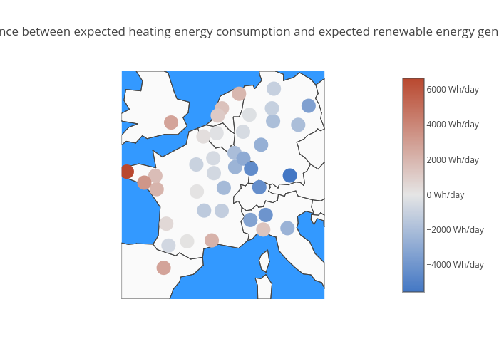 Difference between expected heating energy consumption and expected renewable energy generation | scattergeo made by Aurelienp | plotly
