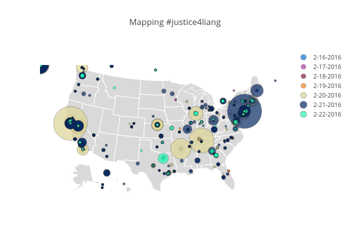 Mapping #justice4liang