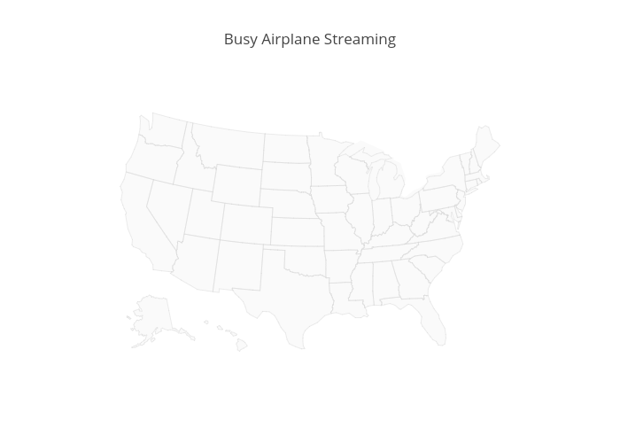 Busy Airplane Streaming | scattergeo made by Demo_account | plotly