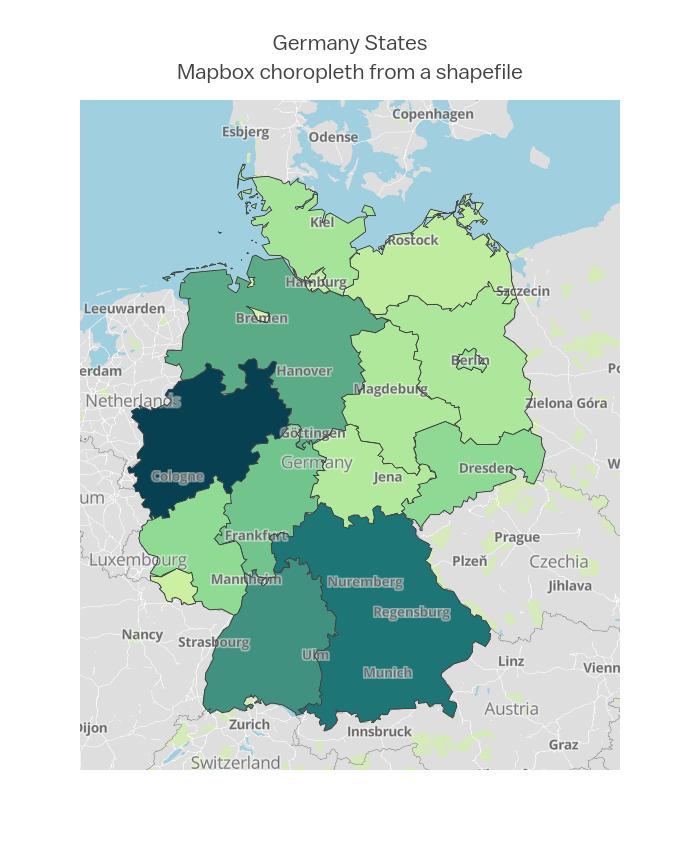 Germany StatesMapbox choropleth from a shapefile