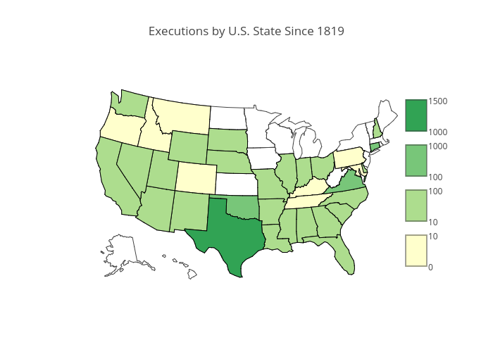 Executions by U.S. State Since 1819
