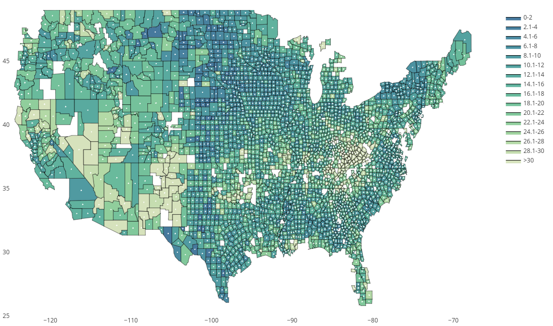 Plotting D3 js county choropleth maps in | jackp | Plotly