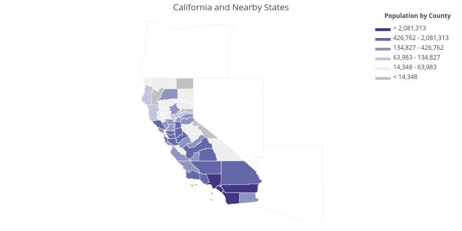 Python USA County Choropleth Maps | Plotly