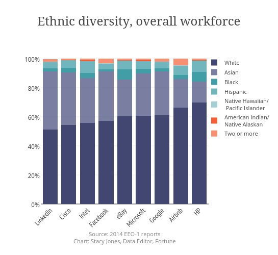 Ethnic diversity, overall workforce