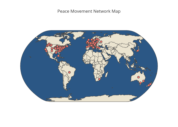 Peace Movement Network Map