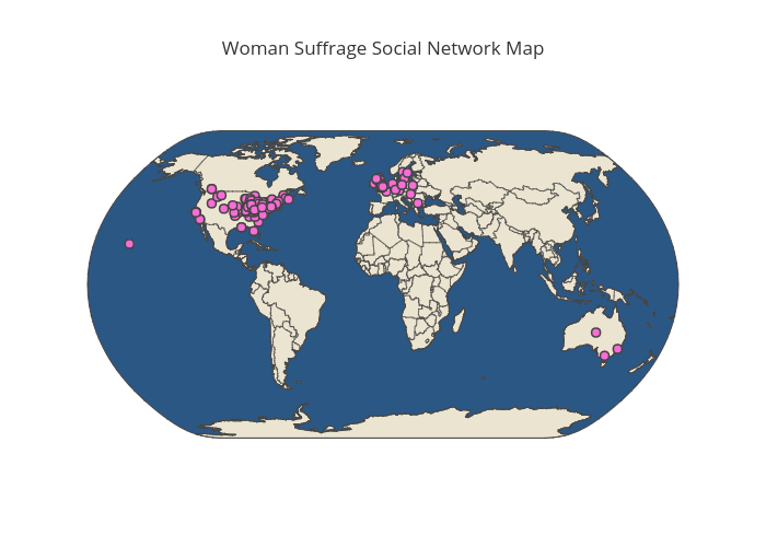 Woman Suffrage Network Map
